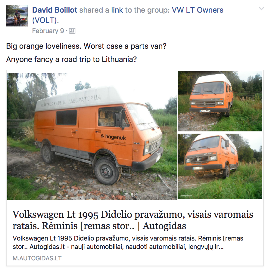 649af6cb1c Rescuing 4x4 VW LT From Lithuania! - VWLT.co.uk